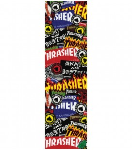 Thrasher/Mob Sticker Collage Griptape