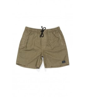 Afends Baywatch Military Elastic Waist Boarshort 16""