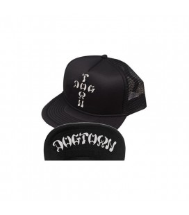 Dogtown Hat Mesh Flip Cross Letters Trucker Cap