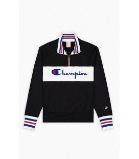 Champion Half Zip-Up Script Logo Reverse Weave Sweatshirt