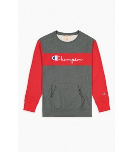 Champion Colour Block Kangaroo Pocket Reverse Weave Sweatshirt
